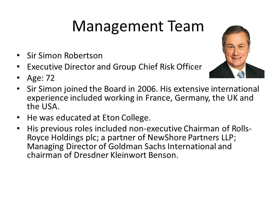 Management Team Sir Simon Robertson