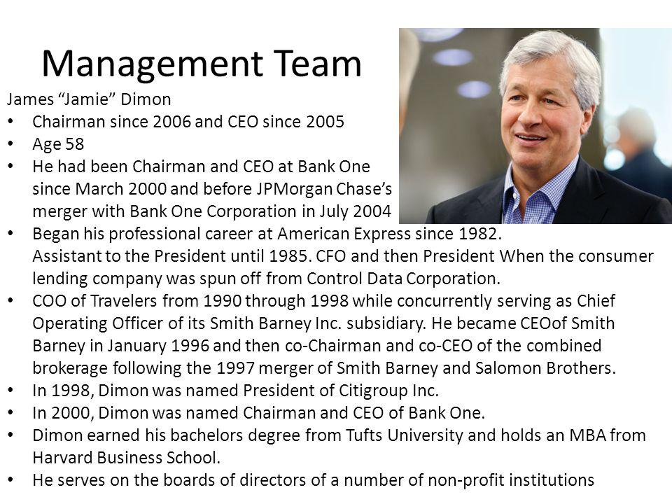 Management Team James Jamie Dimon