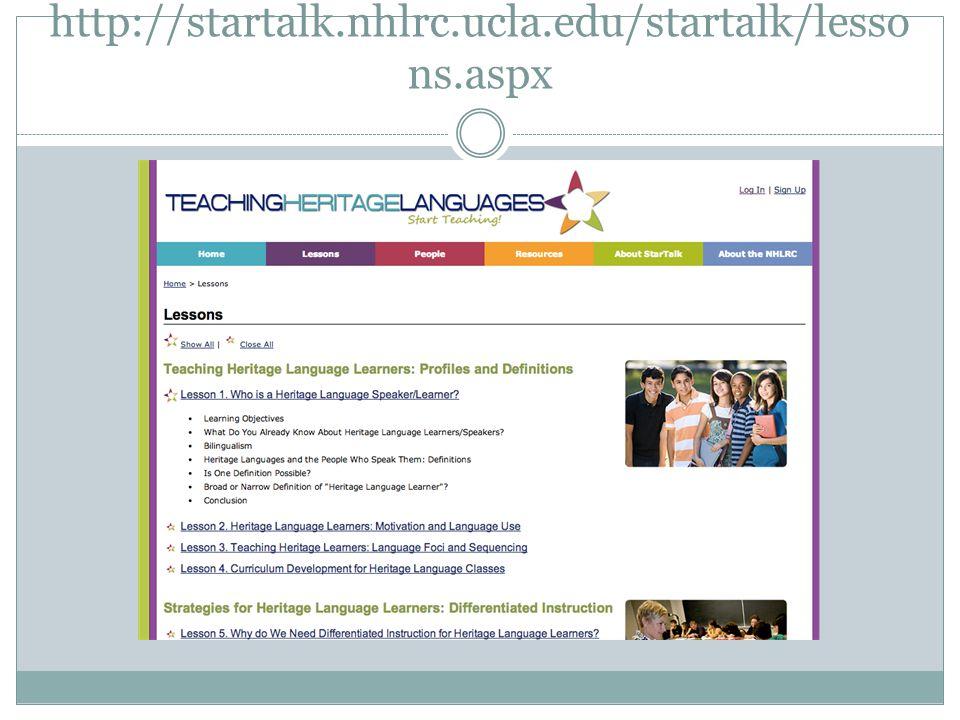 http://startalk.nhlrc.ucla.edu/startalk/lessons.aspx