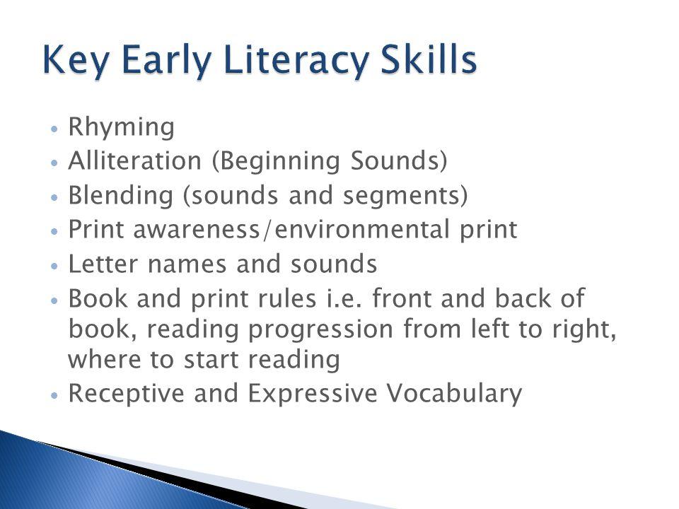 Key Early Literacy Skills
