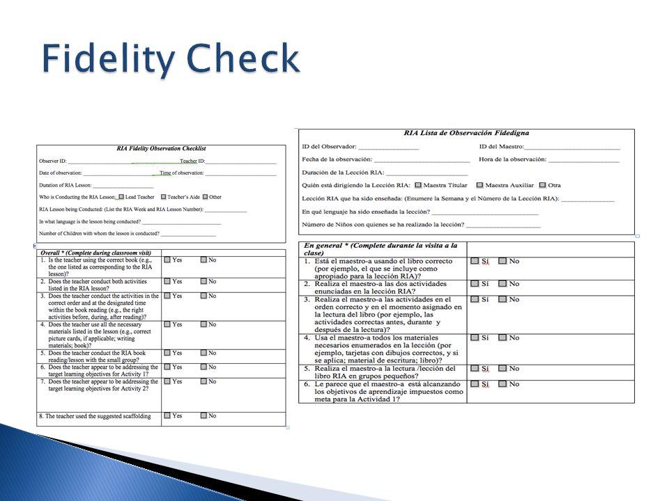 Fidelity Check