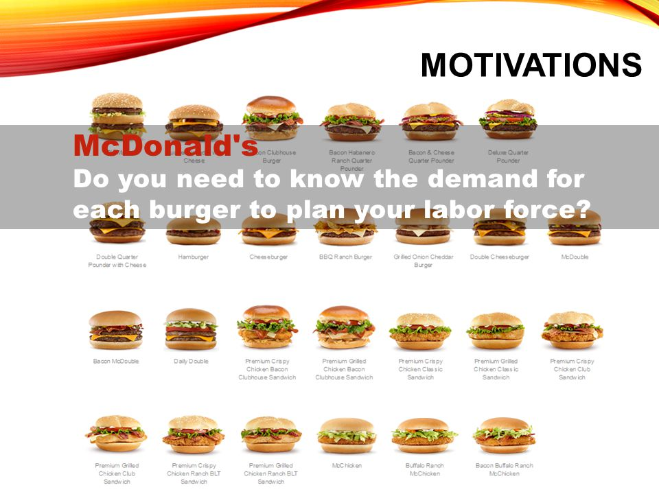 Motivations McDonald s