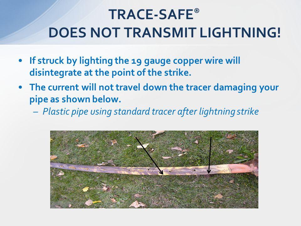 TRACE-SAFE® DOES NOT TRANSMIT LIGHTNING!