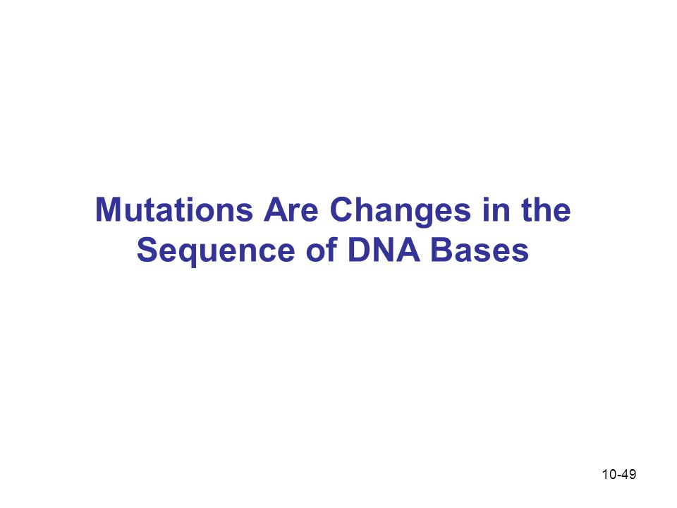 Mutations Are Changes in the Sequence of DNA Bases