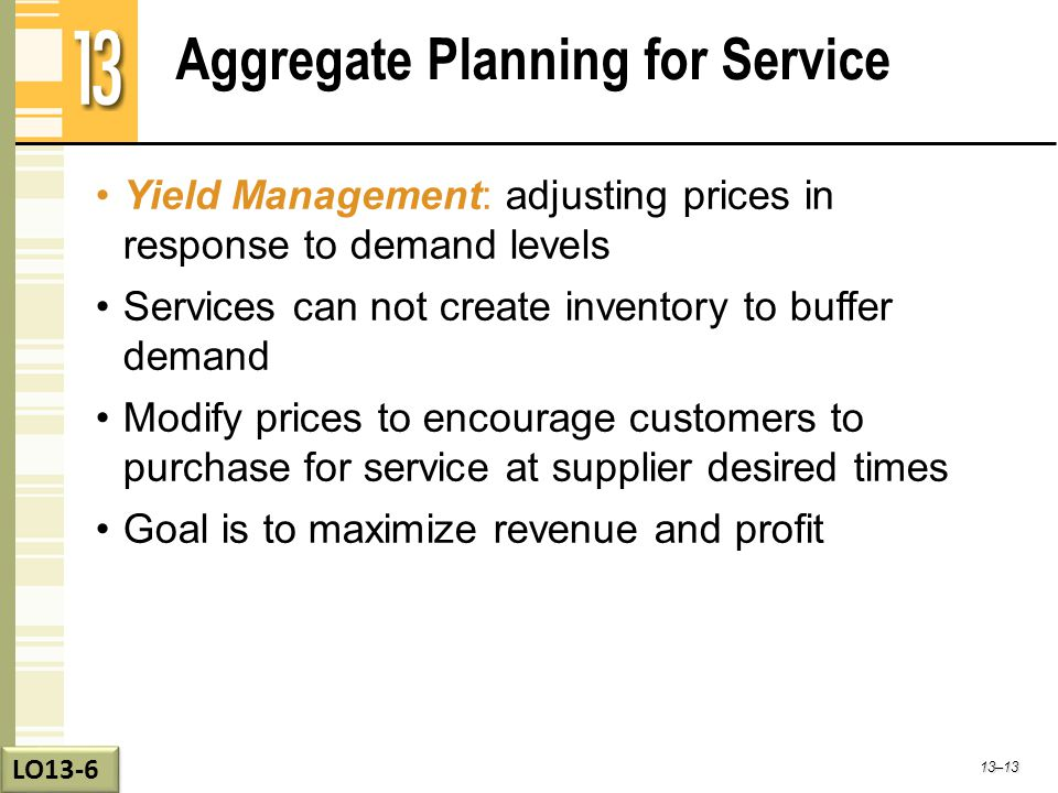 Aggregate Planning for Service