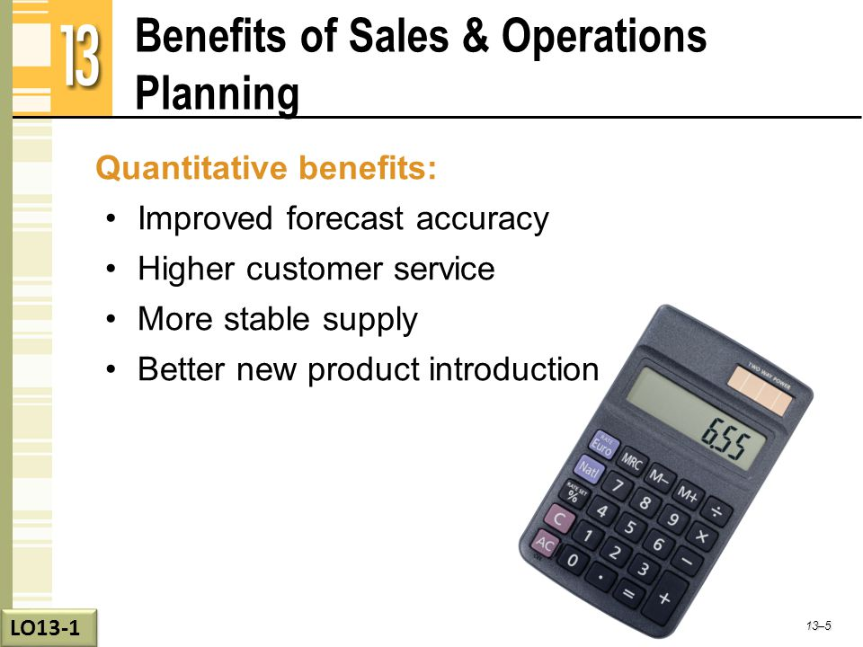 Benefits of Sales & Operations Planning