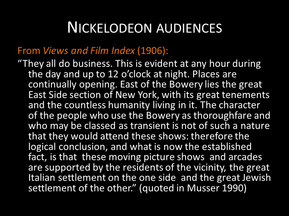 Nickelodeon audiences