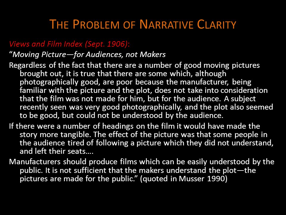 The Problem of Narrative Clarity