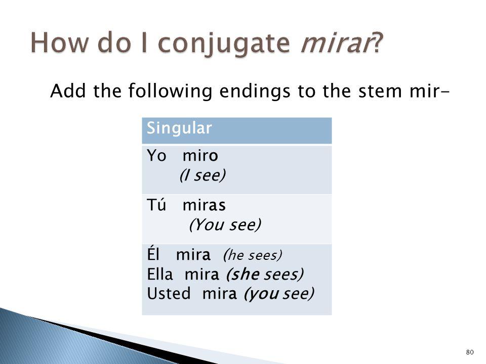 How do I conjugate mirar