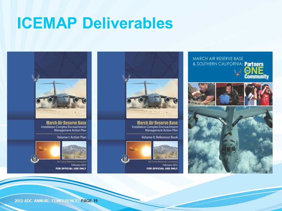 ICEMAP Deliverables