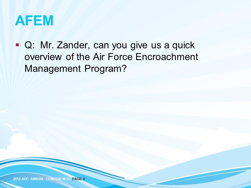 AFEM Q: Mr.
