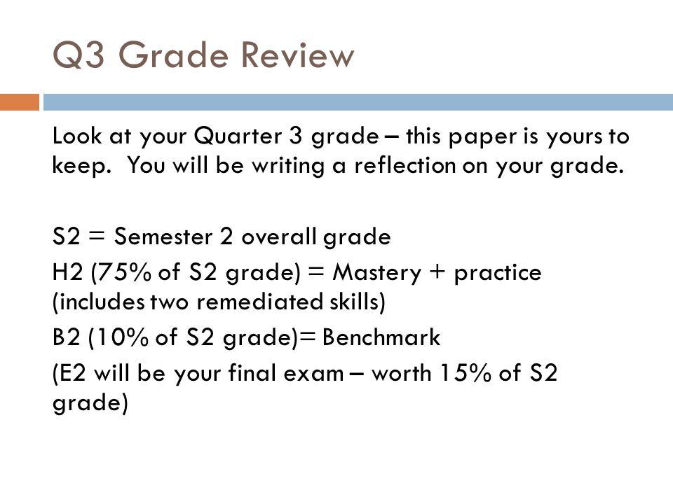 Q3 Grade Review