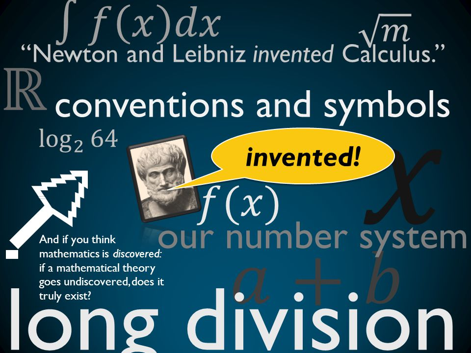 𝑥 long division 𝑎+𝑏 ℝ ∫𝑓 𝑥 𝑑𝑥 𝑓(𝑥) conventions and symbols