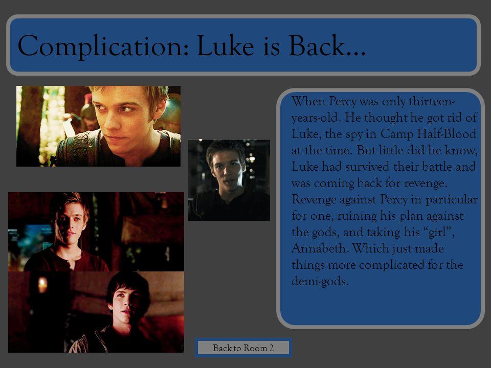 Complication: Luke is Back…