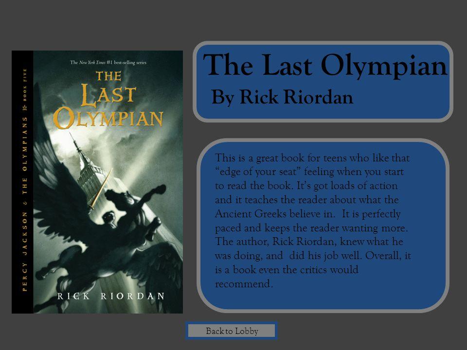 The Last Olympian By Rick Riordan