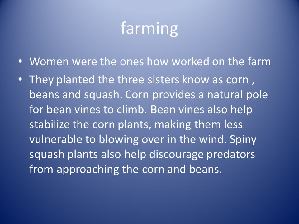 farming Women were the ones how worked on the farm