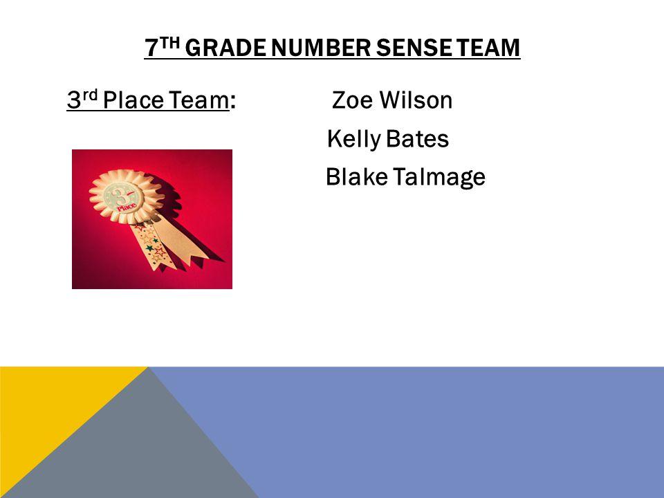 7th grade number sense team