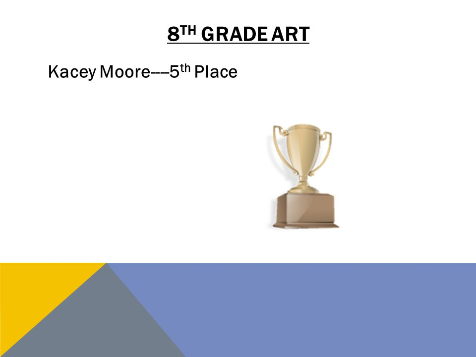 8th grade art Kacey Moore----5th Place