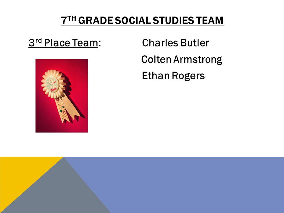 7th grade social studies team