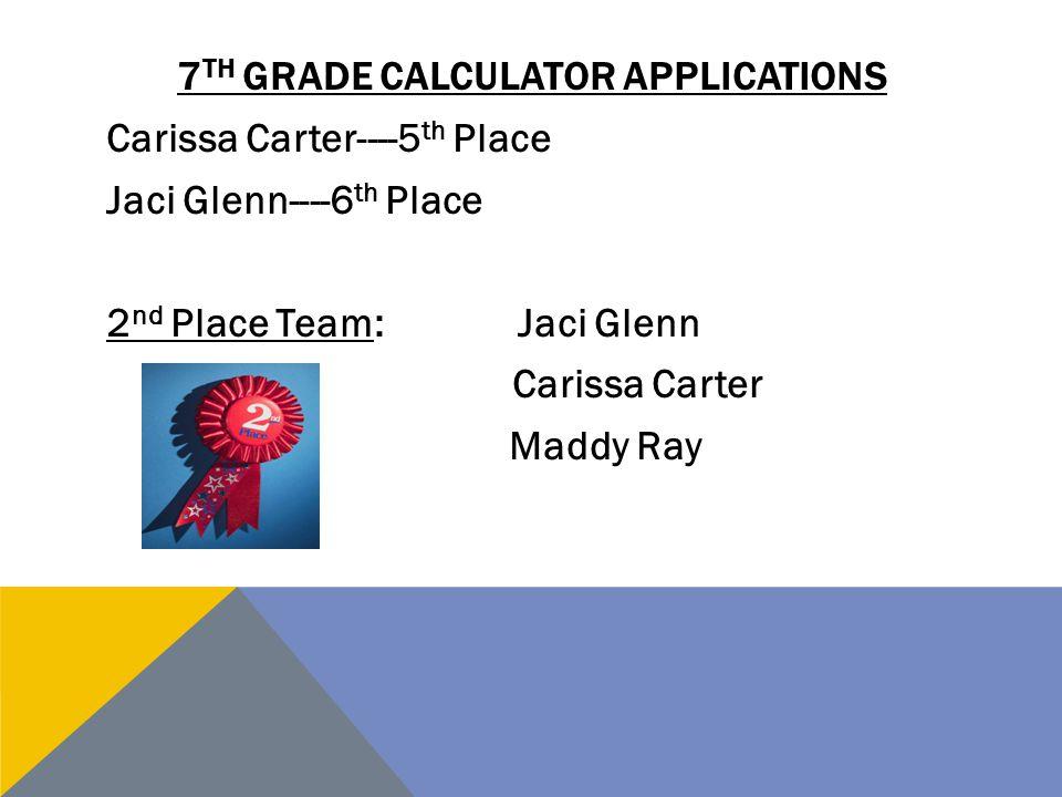 7th grade calculator applications