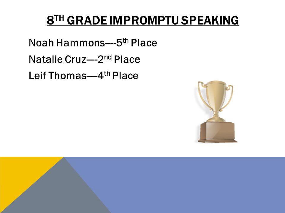 8th grade impromptu speaking