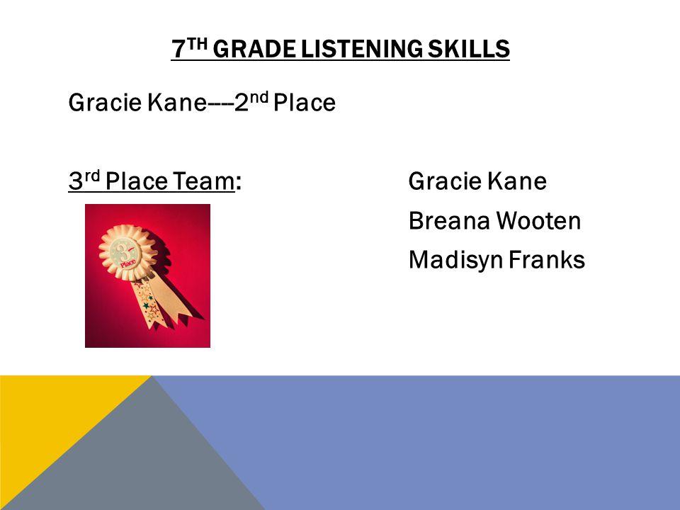 7th grade listening skills