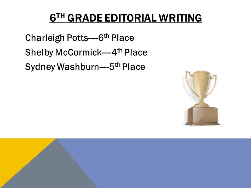 6th grade editorial writing