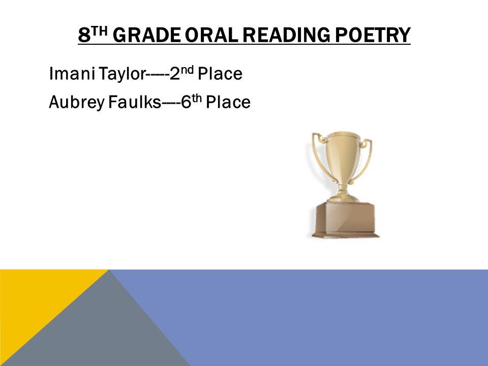 8th grade oral reading poetry