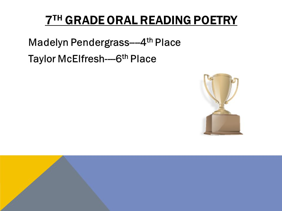 7th grade oral reading poetry