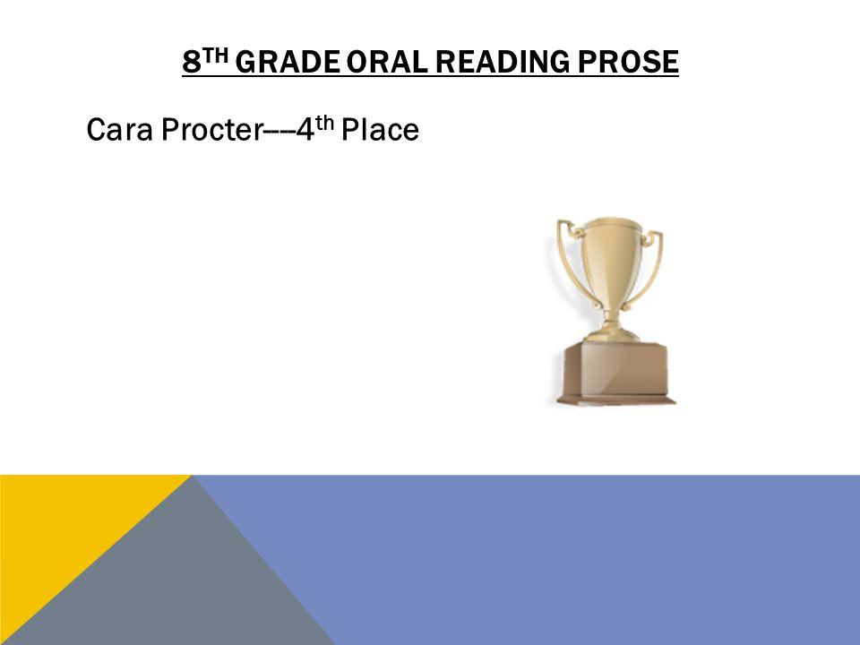8th grade oral reading Prose
