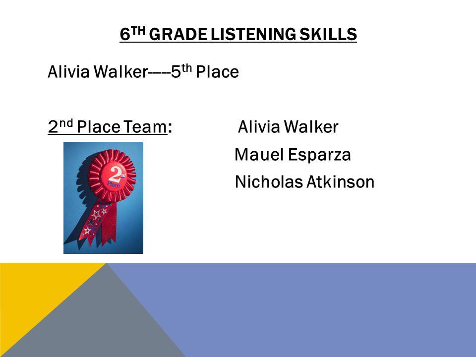 6th grade listening skills