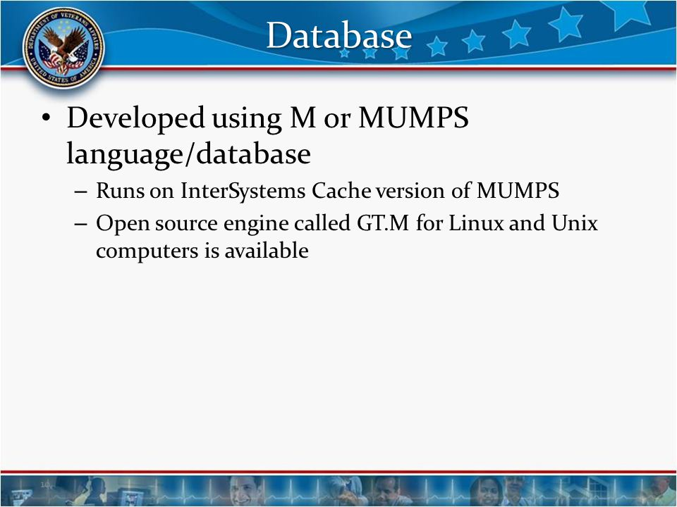 Database Developed using M or MUMPS language/database