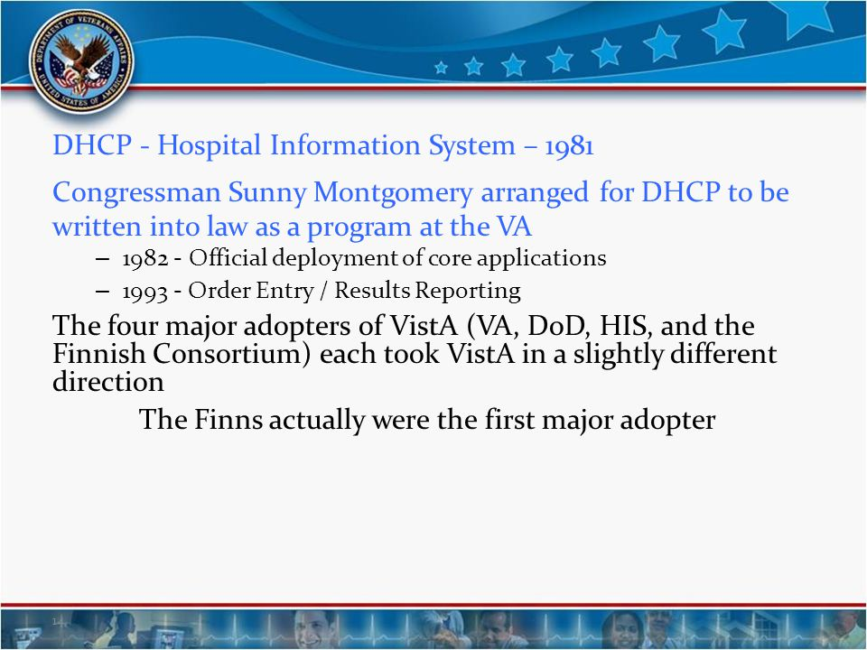 DHCP - Hospital Information System – 1981