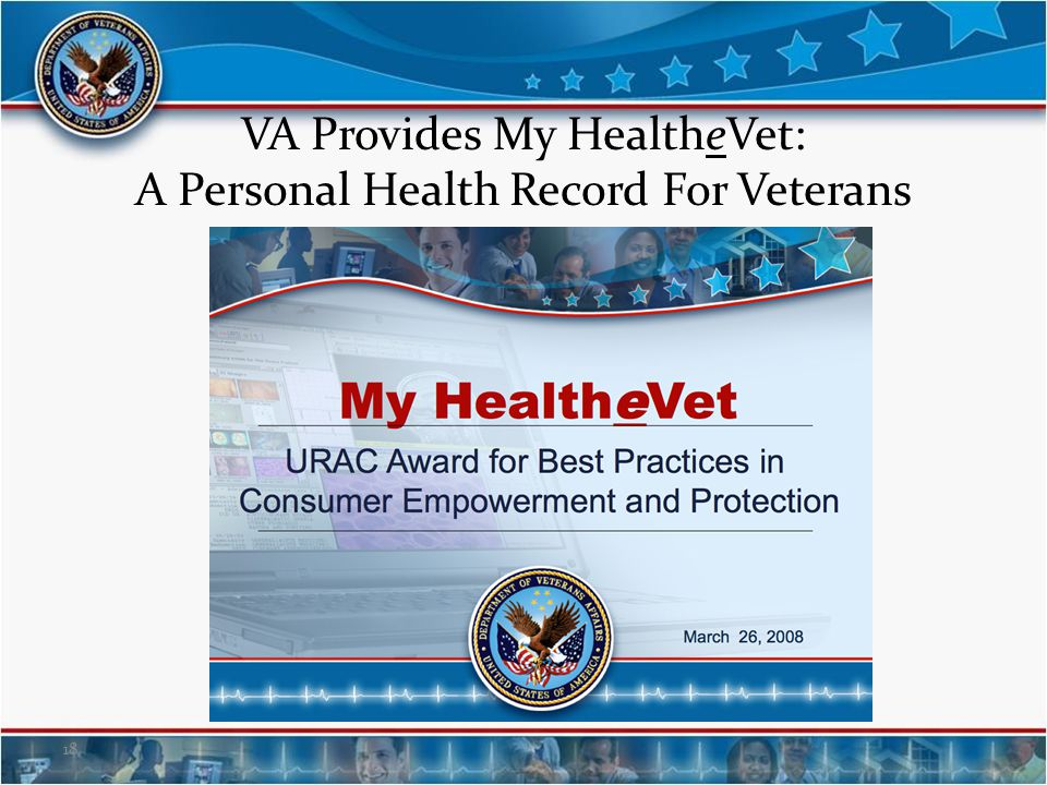 VA Provides My HealtheVet: A Personal Health Record For Veterans
