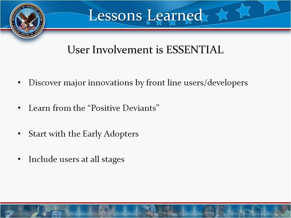 User Involvement is ESSENTIAL