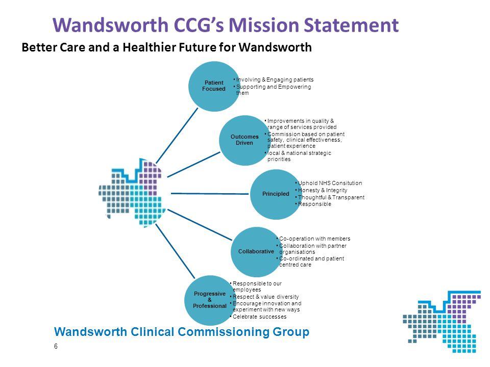 Wandsworth CCG's Mission Statement