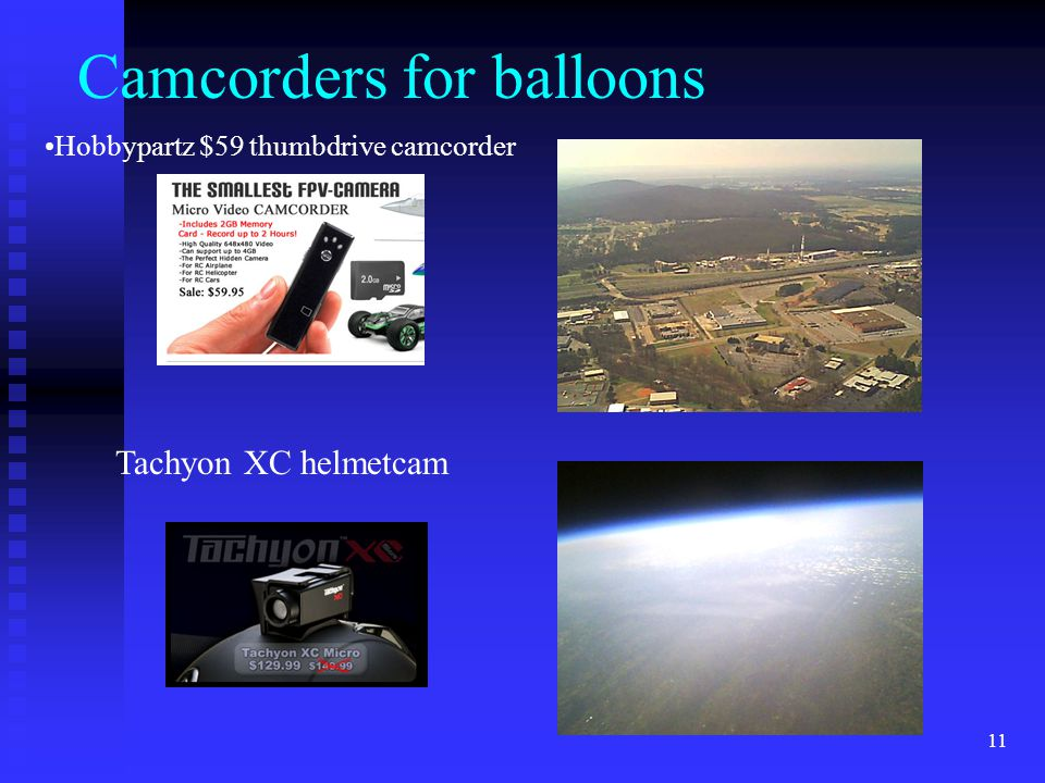 Camcorders for balloons