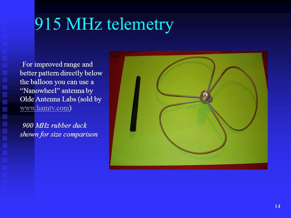 915 MHz telemetry