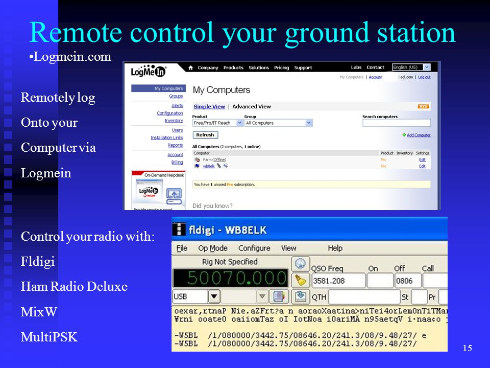 Remote control your ground station