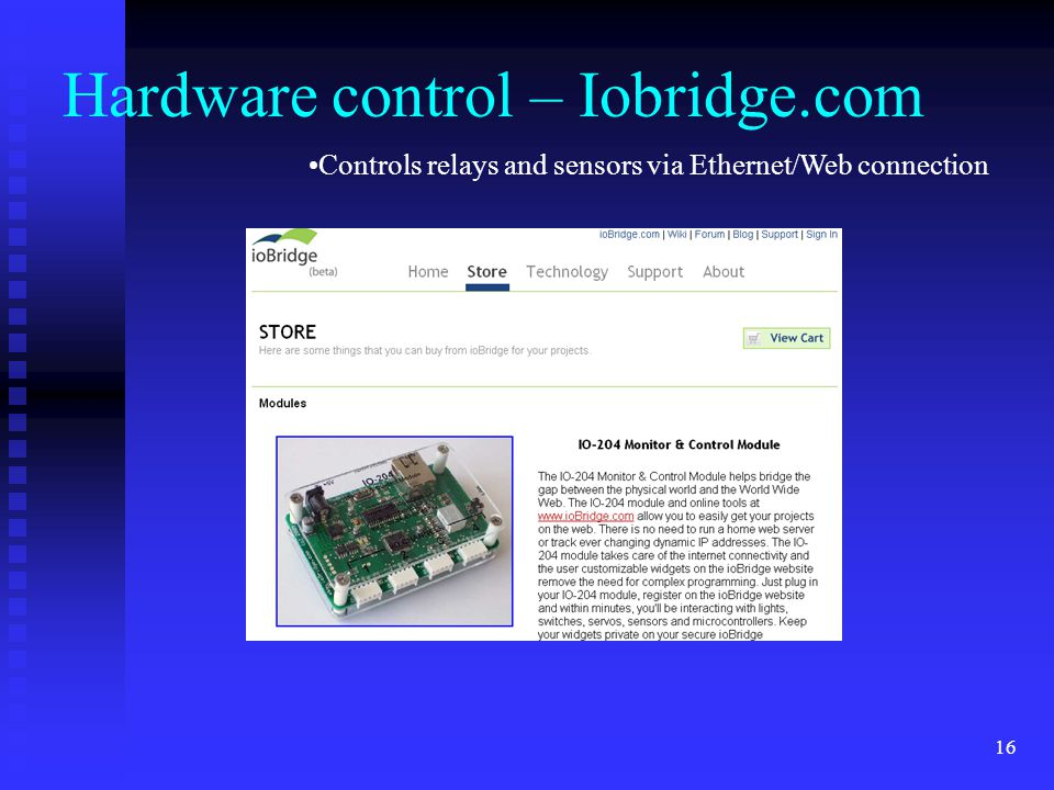 Hardware control – Iobridge.com