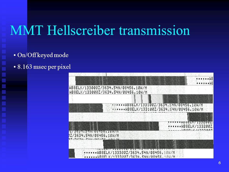 MMT Hellscreiber transmission