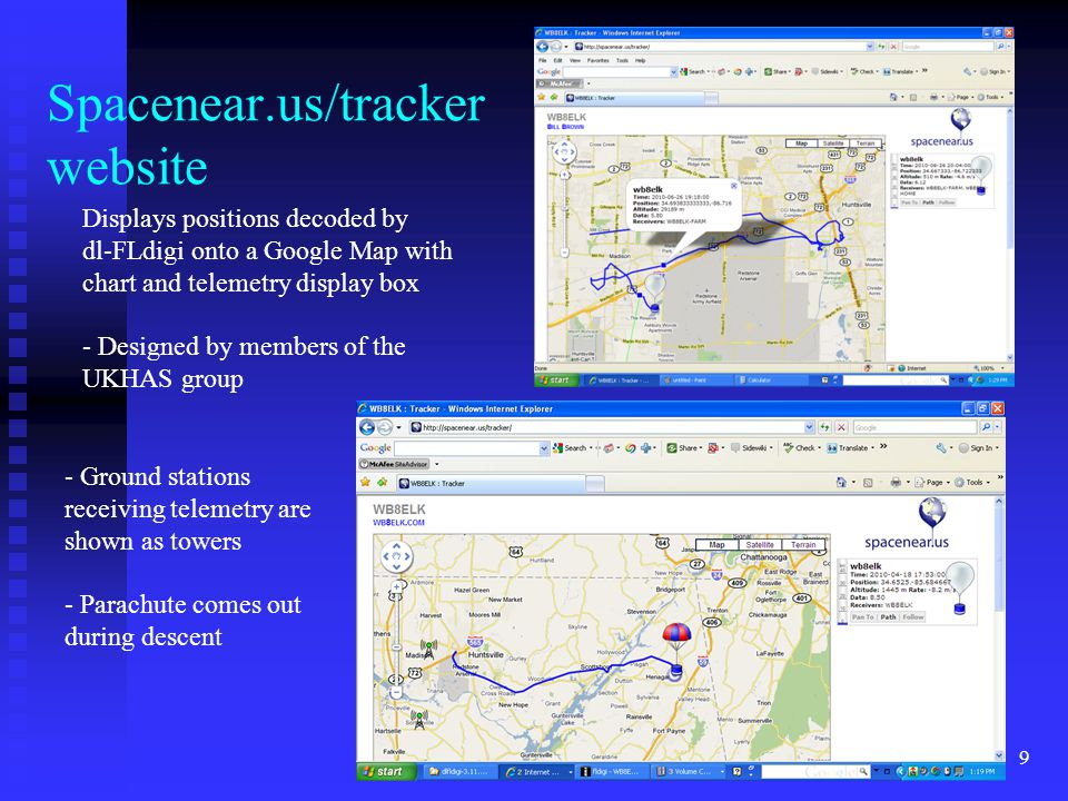 Spacenear.us/tracker website