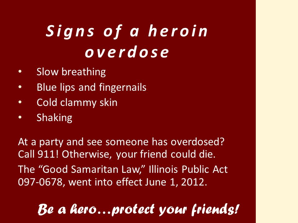 Signs of a heroin overdose