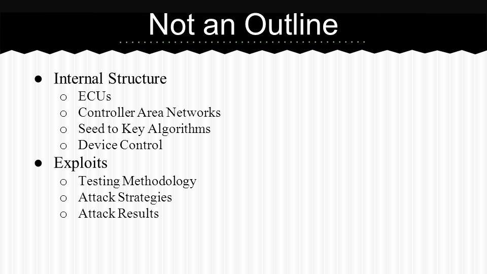 Not an Outline Internal Structure Exploits ECUs