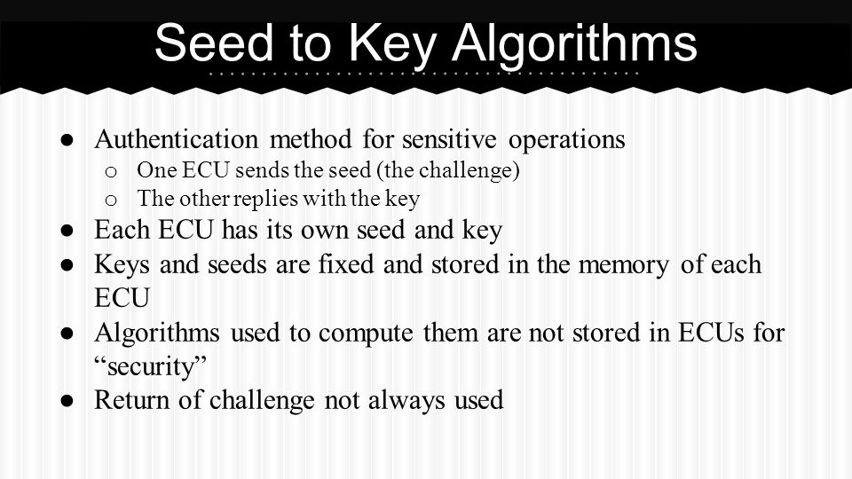 Seed to Key Algorithms Authentication method for sensitive operations