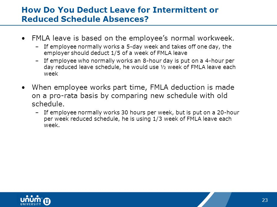 How Do You Deduct Leave for Intermittent or Reduced Schedule Absences