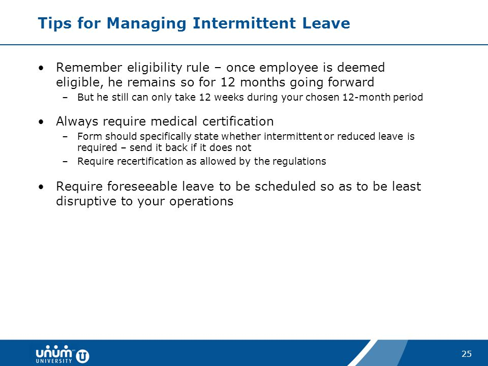 Tips for Managing Intermittent Leave