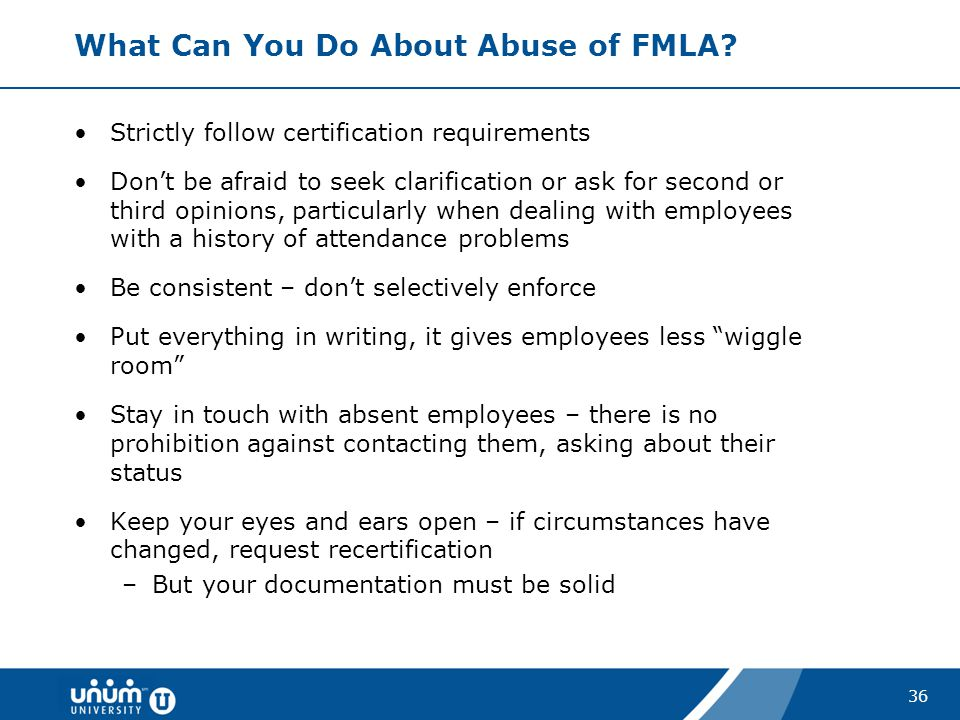 What Can You Do About Abuse of FMLA