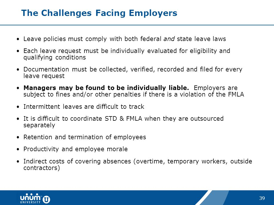 The Challenges Facing Employers