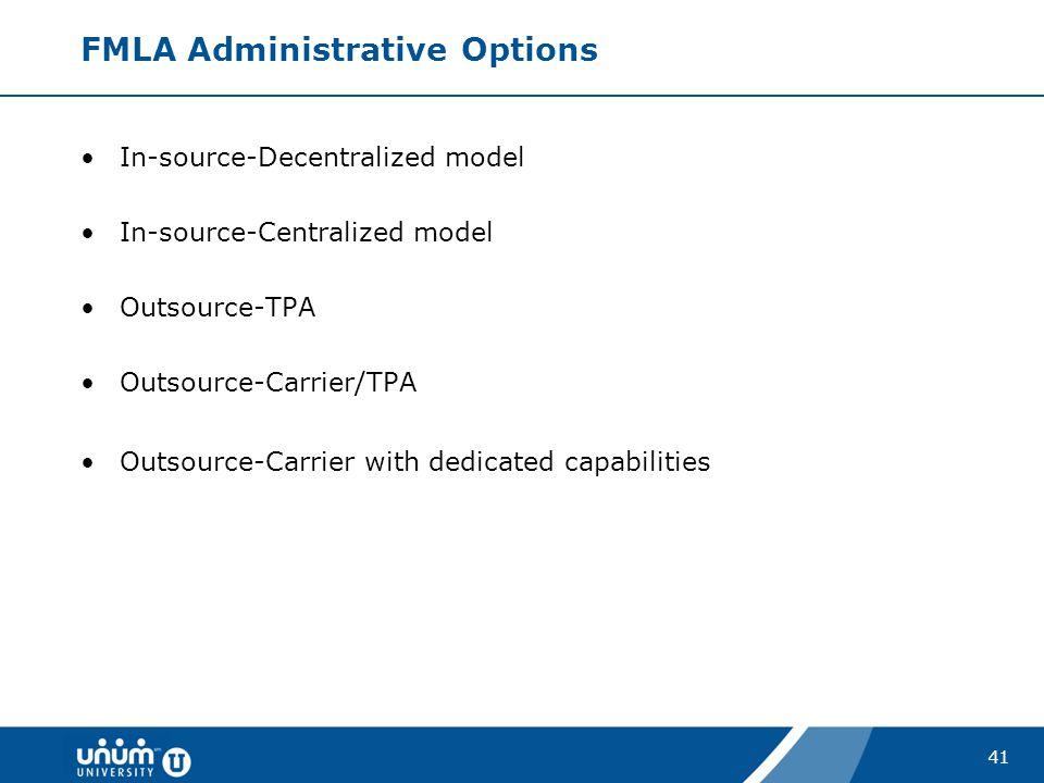 FMLA Administrative Options